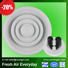 Aluminum round ceiling exhaust air diffuser spray paint ventilation system
