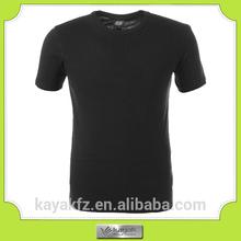 alta calidad de dicha cantidad barato negro 100 algodón camiseta sin formato en blanco