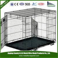 Metal 2 Door Pet Cage with ABS Tray