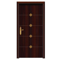 Latest design bullet security stainless steel wooden mixed structured single metal armored door