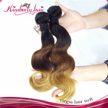 Kimberlyhair Long Lasting Full End No Fake Hair Virgin Pure Human Two Toned Indian Remy Hair
