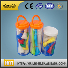 smooth application self-locking Beautiful colorized nylon cable tie ribbon