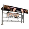 advertising billboard used clothing display stand solar power bus stop