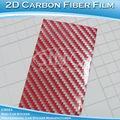 Rojo 2D de carbono de la fibra vinilo