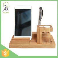 3 In 1 Pen Stand Business Card Phone Holder Desk Organizer for iPhone 6 for Apple Watch
