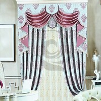 fancy luxury discount stock printed beautiful islamic cloth ready made curtain frill from china