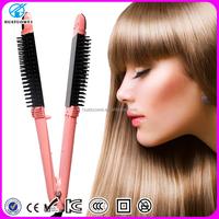 New design dual volt auto temperature control hair straightener, best hair straightener and hair curler in one