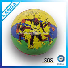 hto sell promotional customized logo rubber basketball size 7