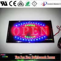 12V battery LED OPEN SIGNS for all business/DC 12V 19''x10'' LED open SIGN board, SAE battery powered LED neon open signs