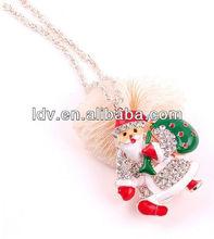 Exaggeration Santa Claus necklace lucky present for christmas