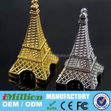 Eiffel Tower shape pen drives personalized usb flsh drive pen drive usb 3.0