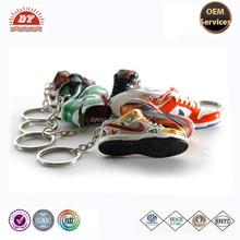 Mini running soccer sneaker shoes keychain