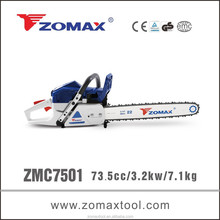chain saw crankshaft 3.2kw ZMC7501 electric pruning saws with 2 stroke engine