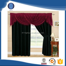 100% polyester micro suede solid burgundy window curtain