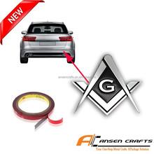 Masonic Car Emblems with Chrome Plated