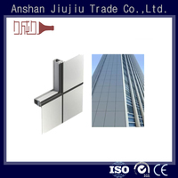 Aluminum structural frame for curtain wall