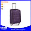 China luggage factory purple color new travel time luggage high quality trolley luggage