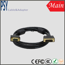 Black DVI to VGA cable support 2560*1600 60/120hz