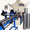 Spiral ventilation tube former air duct forming machine