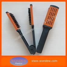 Ceramic hair straightener / Hair straightening brush with boar bristles