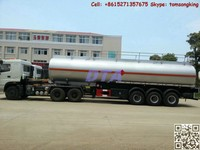 316L stainless steel tank semi trailer 30 T Tank Semi Trailer manufacturer for different liquid transport M:86-15271357675