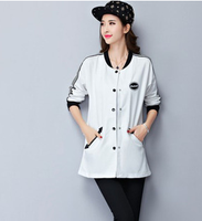 2015 CASUAL COATS BODYCON BASEBALL UNIFORM COAT FOR WOMEN