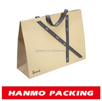 accept custom order and industrial use printing white paper shopping bag wholesale