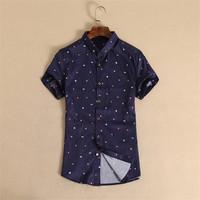 Short sleeve plaid crocodile shirt