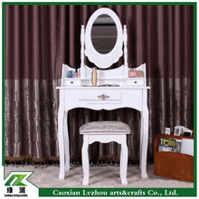 Solid wood dresser/dressing table with stool for EU / US / ASIA market