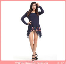 sexy de manga larga vestido de las mujeres