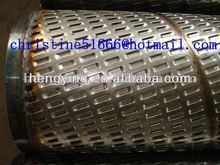 2012 hot sale sand control tube,precise punched slotted screen,perforated pipes