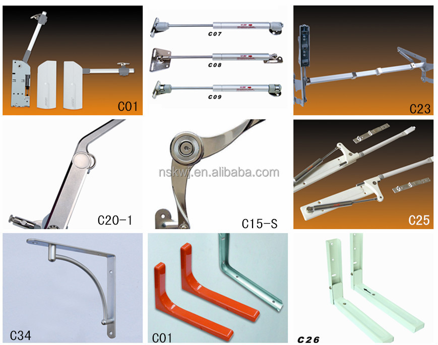 Lift Up Hinge Gas Lift Cabinet Pneumatic Support For Cabinet Door