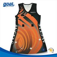 Custom design team sport women netball uniforms, netball dress, netball wear