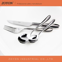 4PCS hote selling Gold palted flatware with stainless steel