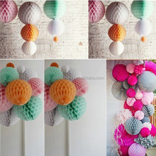 "8"" Mixed Colors Wedding Table Centrepiece Honeycomb Balls Paper Lanterns"