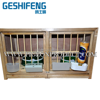 wooden male and female match pigeon cage