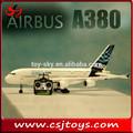 Nuevos productos calientes para 2015 2.4g rc avión airbus a380 sin escobillas a380 rtf avión rc
