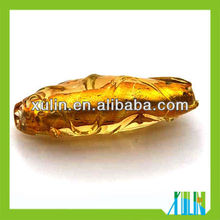 2013 european style foil gold glass beads 20*50mm