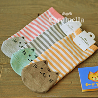 Prompt Delivery 100% Cotton Socks Cartoon Tube Young Girl Socks Low Price