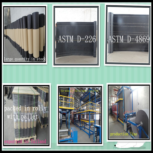 waterproof building paper or fieltro M.H.R 15/40 and M.H.R 10/40