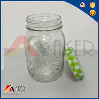 China supplier food glass honey jar with metal cap