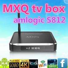 MXQ amlogic S812 quad core android smart tv box pre-installed kodi14.2 kodi 14.2 mxq Metal box