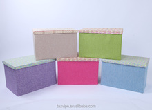 household collapsible linen vision storage box /organizer