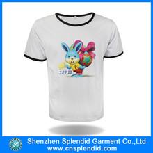 wholesale clothing printed white plain organic cotton t-shirts