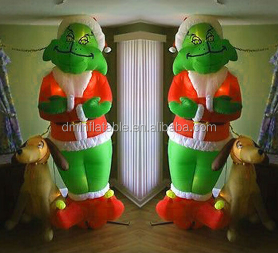 Grinch inflatable christmas yard decorations pictures to for Air blown decoration