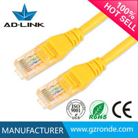 Yellow 0.5-50m Ethernet Gigabit cabling rj45 category 6 patch cords
