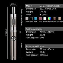 Bulk-E-Cigarette-Purchase Bottom Dual Charge 1.oohm/1.2ohm Max Vapor G3 Kit Portable Vaporizer 2015