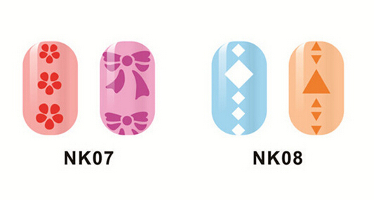 Manicure Nails Sticker Stencil NK 1
