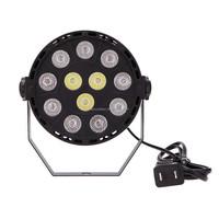 DMX-512 RGB LED High Power Stage PAR Light Lighting Strobe Professional 8 Channel Party Disco Show 15W AC 90-240V