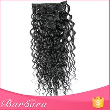 Afro Kinky Curly Grey Color Cheap 100% Human Hair Clip In Hair Extensions For African American Black Women Free Sample